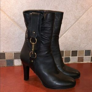 COACH Torree black leather boots 7.5 B